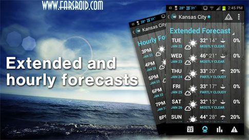 1Weather:Widget Forecast Radar برنامه اندروید