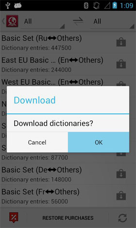 ABBYY Lingvo Dictionaries Android - برنامه اندروید