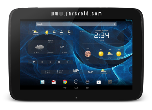 AIO Widgets Android - ویجت های ساعت، باتری، آب و هوا تبلت اندروید