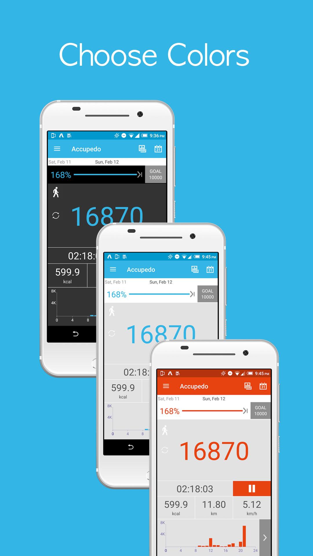 Accupedo-Pro Pedometer Android برنامه اندروید