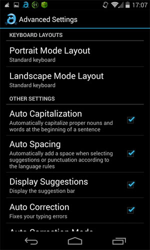 Adaptxt Keyboard Android