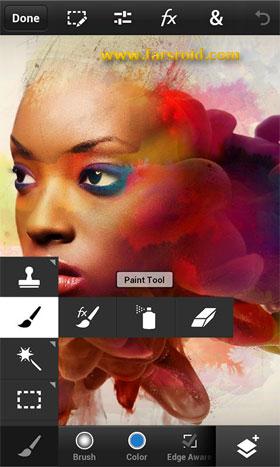 نرم افزار فتوشاپ اندروید - Photoshop android