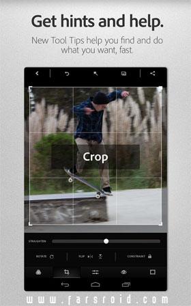 Adobe Photoshop Express Android - برنامه اندروید