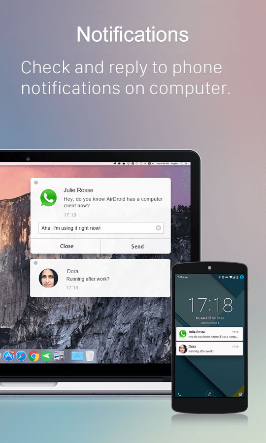 AirDroid Android برنامه اندروید