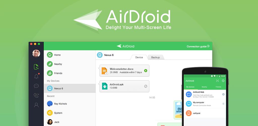دانلود AirDroid - قدرتمندترین برنامه مدیریت اندروید از طریق اینترنت!