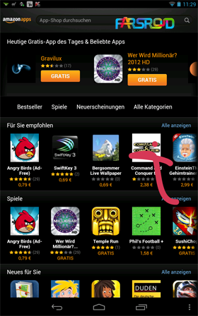 Amazon AppStore Android اندروید