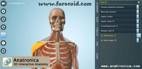 دانلود Anatomy 3D Pro – Anatronica - آناتومی بدن انسان اندروید