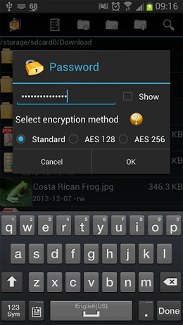 AndroZip Pro File Manager Screenshot