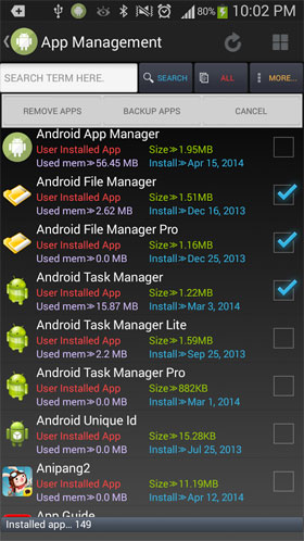 Android App Manager Android - برنامه اندروید