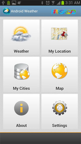Download Android Weather & Clock Widget Android Apk - NEW