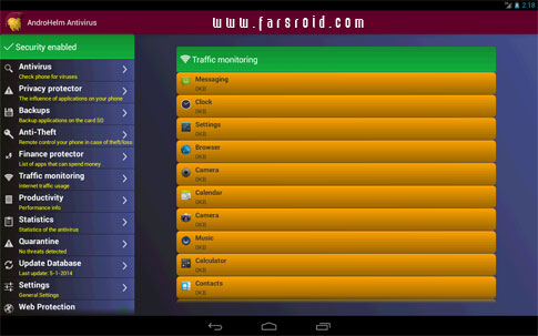 AntiVirus for Android - نرم افزار انتی ویروس اندروید