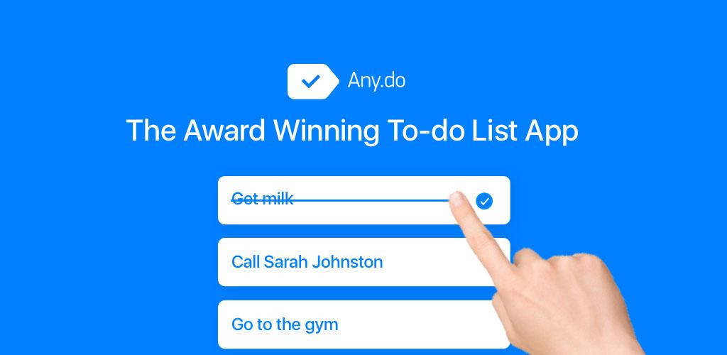 دانلود Any.do To-do List & Task List - اپلیکیشن یادآوری کارها برای اندروید