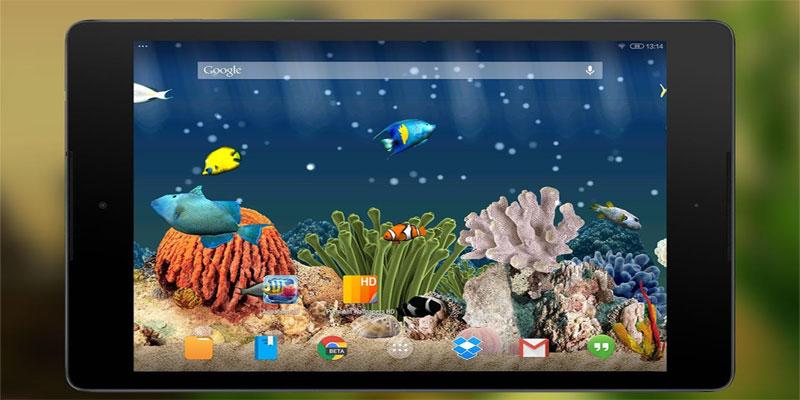 دانلود Aquarium 3D Live Wallpaper - لایو والپیپر آکواریوم اندروید !