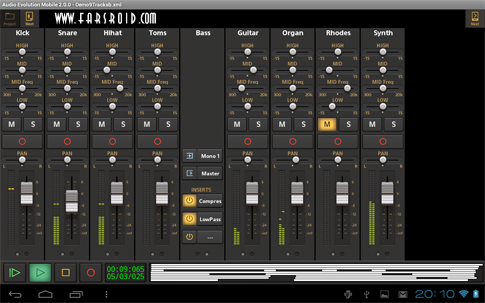 Download Audio Evolution Mobile DAW Android Apk
