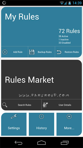 AutomateIt Pro Android - برنامه رایگان اندروید