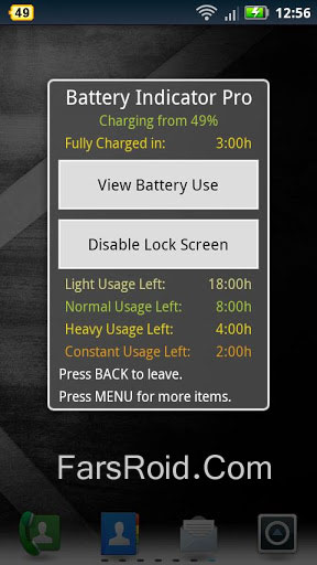 Battery Indicator Pro Screenshot