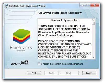 مرحله اول نصب نرم افزار BlueStacks - تصویر 1