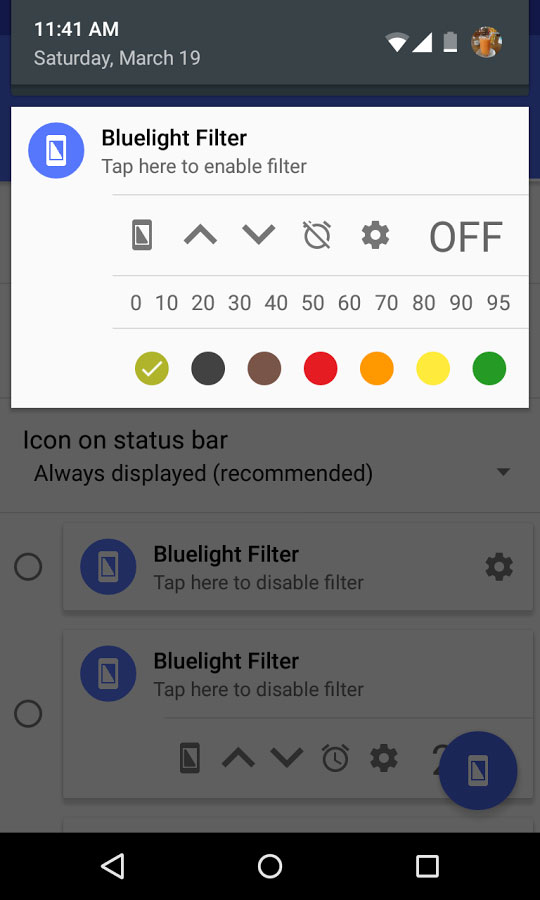 Bluelight Filter for Eye Care - برنامه اندروید