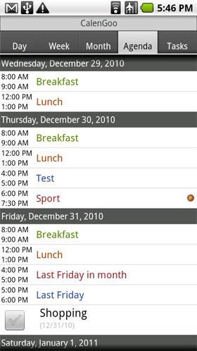 CalenGoo Android برنامه اندروید