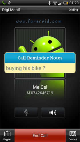 Download Call Reminder Notes Android Application - NEW