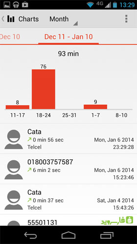 Call Timer Pro - Data Usage Android