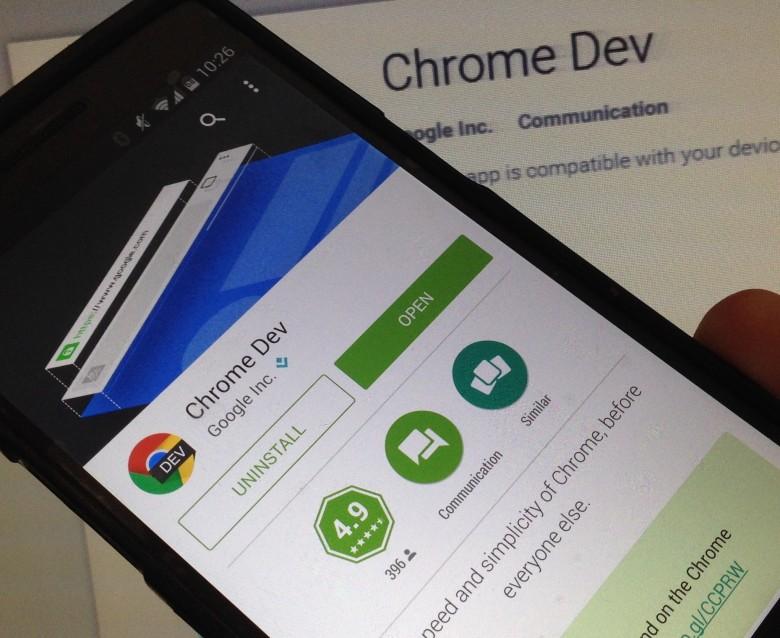 Chrome Dev دانلود Chrome Dev 52.0.2718.2 – ورژن و نسخه Dev نرم افزار مرورگر اینترنتی کروم آندروید !