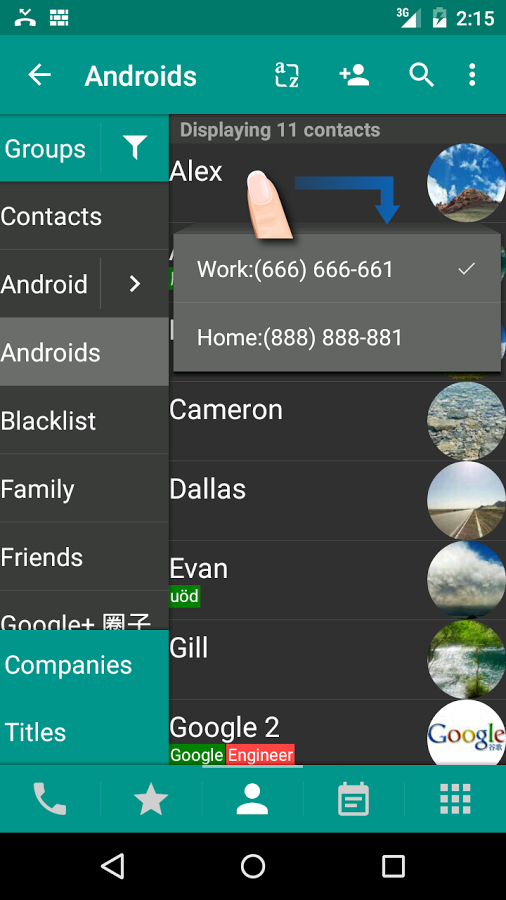 DW Contacts & Phone & Dialer Android اندروید