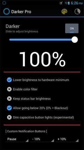 Darker Pro 2 دانلود Darker Pro 2.4.3 – برنامه جذاب و جالب و خوب تنظیم مقدار و اندازه و میزان روشنایی صفحه آندروید
