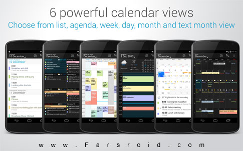 DigiCal Calendar & Widgets Android تقویم رایگان اندروید