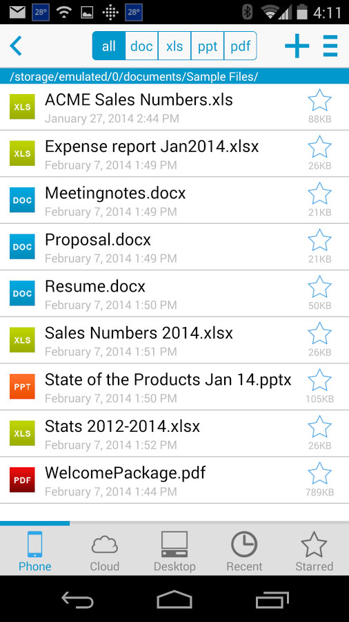 Docs To Go - Free Office Suite Android - برنامه اندروید