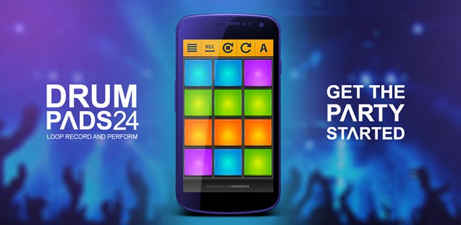 Драм Падс 24 - Приложение для создания собственной электронной музыки на Android. Drum Pads 24 скачать для Андроид