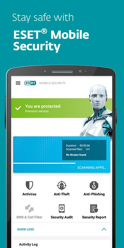 ESET Mobile Security & Antivirus Android - اندروید آنتی ویروس نود سی دو