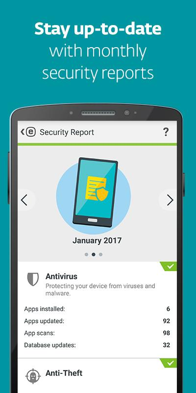 ESET Mobile Security & Antivirus Android - اندروید آنتی ویروس نود سی دو