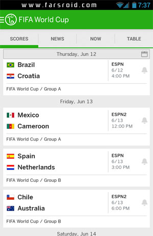 ESPN FC Soccer & World Cup Android - نرم افزار اندروید