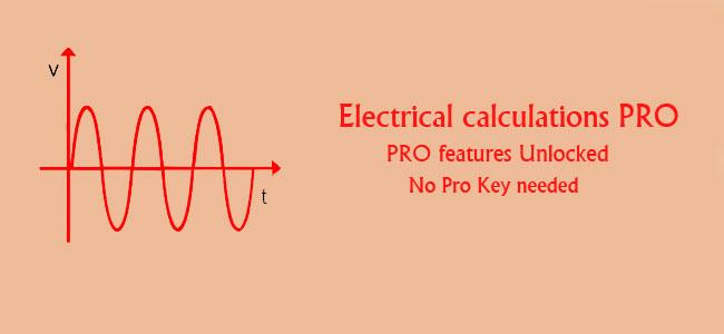 دانلود Electrical calculations PRO - برنامه کاربردی محاسبات برق اندروید