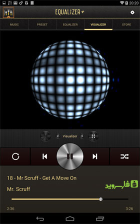 Equalizer + mp3 Player Volume Android - برنامه اندروید