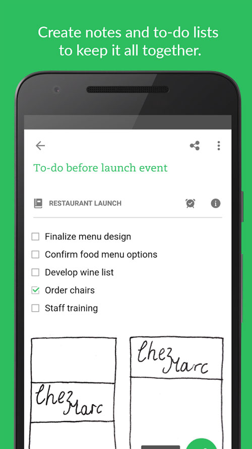 Evernote Android برنامه اندروید