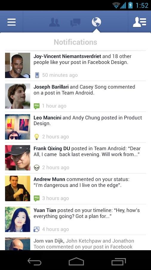 Facebook Android نرم افزار رسمی فیسبوک