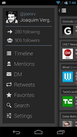 دانلود Falcon Pro – For Twitter 2.1.2 – برنامه کاربردی توییتر اندروید