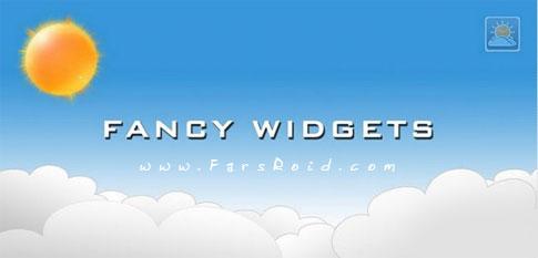 دانلود Fancy Widgets Full - ویجت هواشناسی و ساعت اندروید