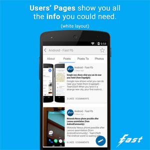 Fast Pro for Facebook Android - نرم افزار جدید اندروید