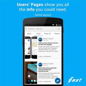 دانلود Fast Pro (Client for Facebook) 3.3 – برنامه سریع فیسبوک اندروید