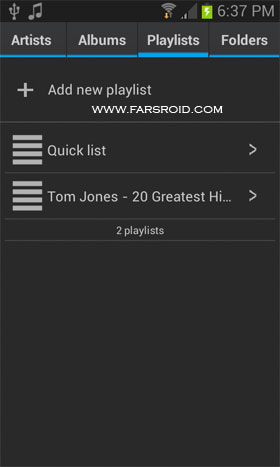 Favtune Music Player Pro Android - برنامه اندروید