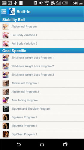 Fitness Buddy : 1700 Exercises Android