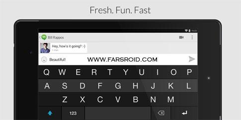 Fleksy Keyboard - Happy Typing - نرم افزار اندروید