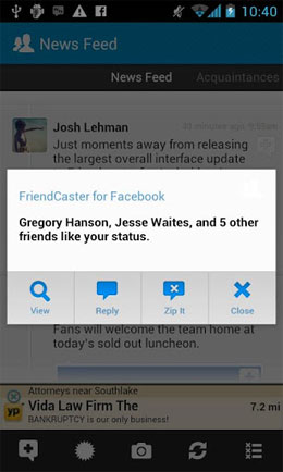 Friendcaster Pro for Facebook Android