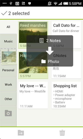 GNotes - Sync Notes with Gmail - برنامه اندروید