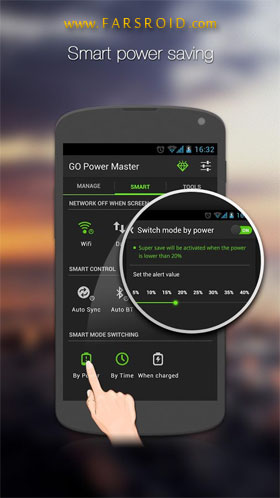 GO Battery Saver &Power Widget Android برنامه اندروید