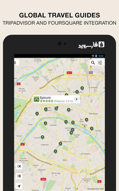 دانلود GPS Navigation & Maps – Scout 7.0.2 Unlocked – جی پی اس کامل اندروید !