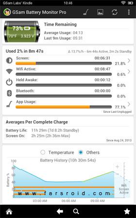 GSam Battery Monitor Pro - نرم افزار اندروید